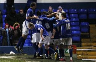 Town in 1-0 win over Premier League side West Brom