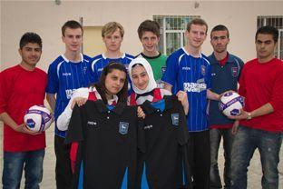 Ipswich Town Football Club gear given to students in Kurdistan